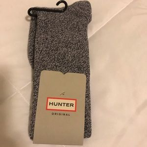 Hunter Boots purple socks